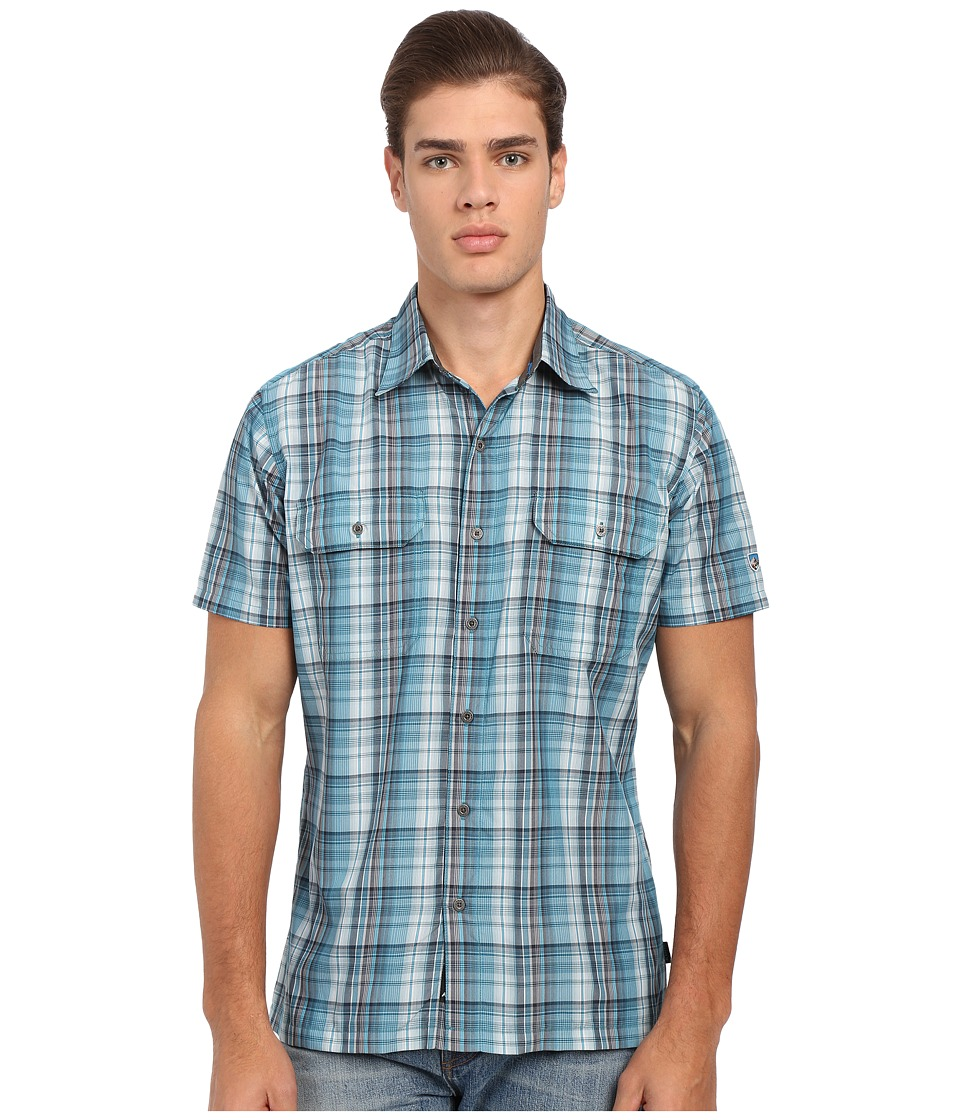 KUHL - Response Short Sleeve Shirt (Deep Sea) Men's Short Sleeve Button Up