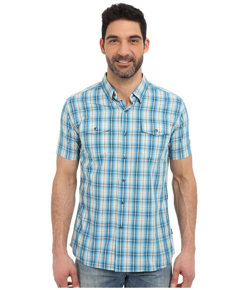 KUHL - Brisk Short Sleeve Shirt (Lake Blue) Men's Short Sleeve Button Up