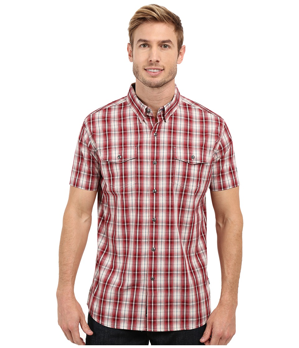 KUHL - Brisk Short Sleeve Shirt (Rio Red) Men's Short Sleeve Button Up