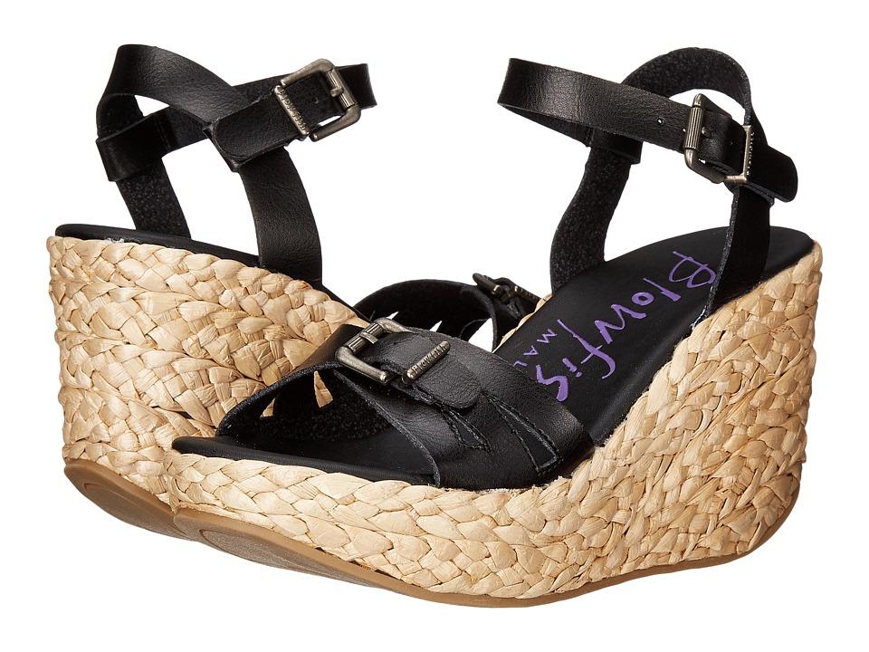 Blowfish - Drive In (Black Dyecut PU) Women's Wedge Shoes