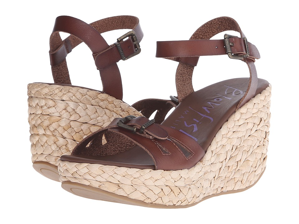 Blowfish - Drive In (Whiskey Dyecut/Straw Rope Wedge) Women's Wedge Shoes