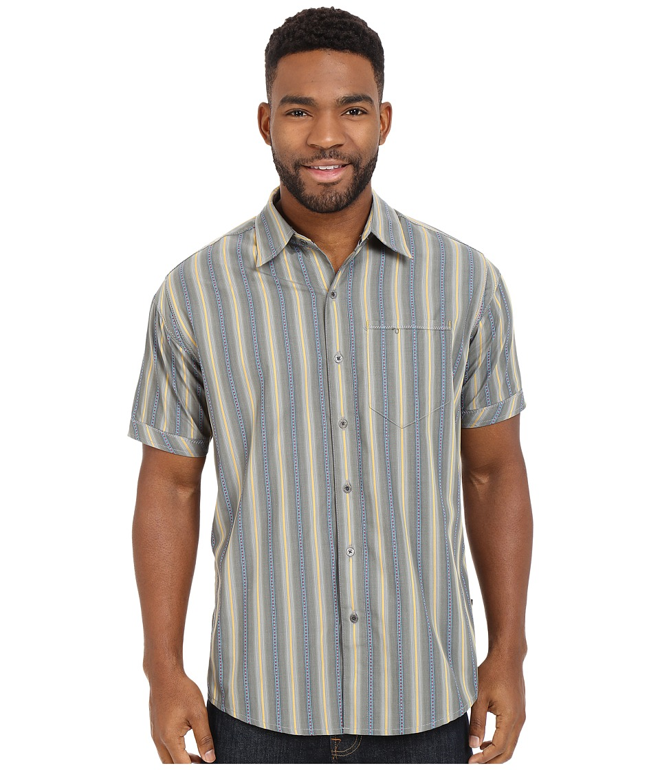 KUHL - The Bohemiantm Short Sleeve Shirt (Wild Olive) Men's Short Sleeve Button Up