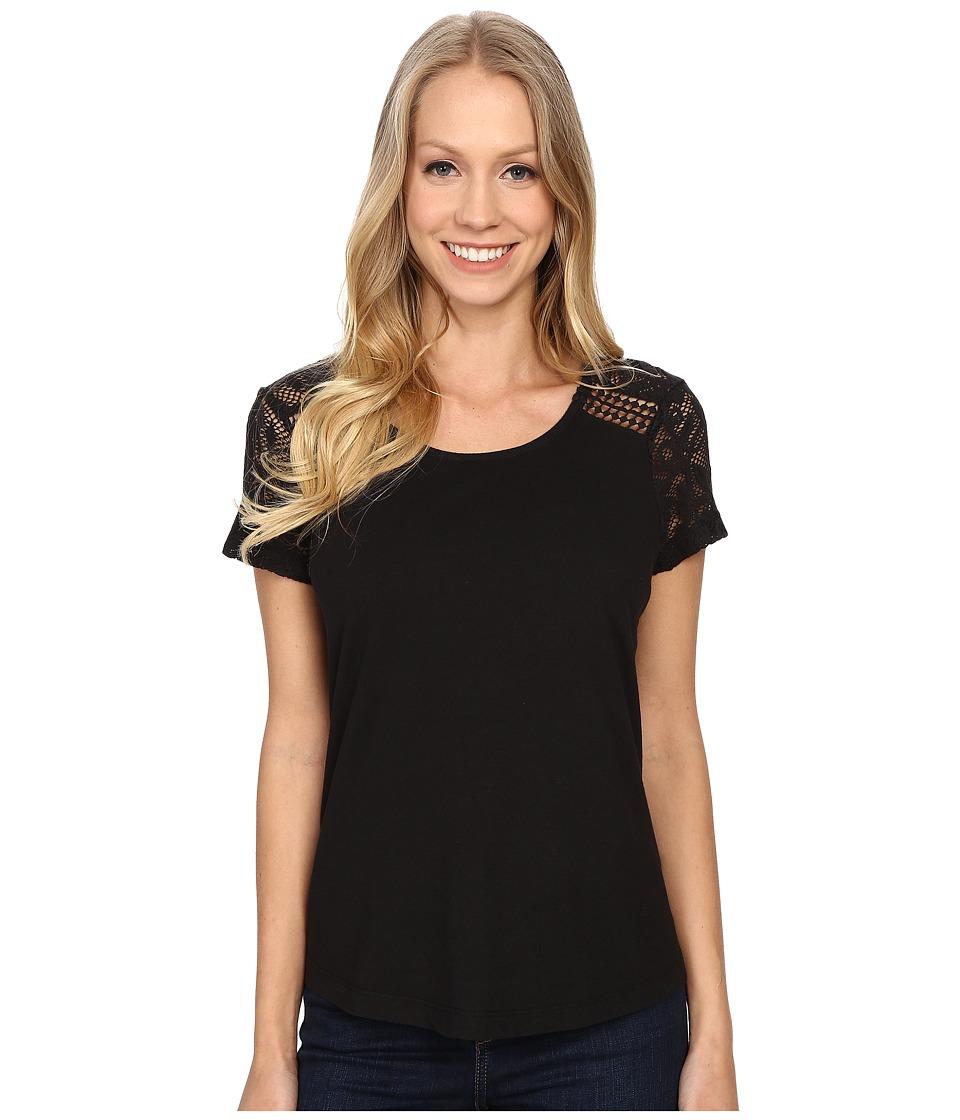 Aventura Clothing - Wyatt Short Sleeve (Black) Women's Short Sleeve Pullover