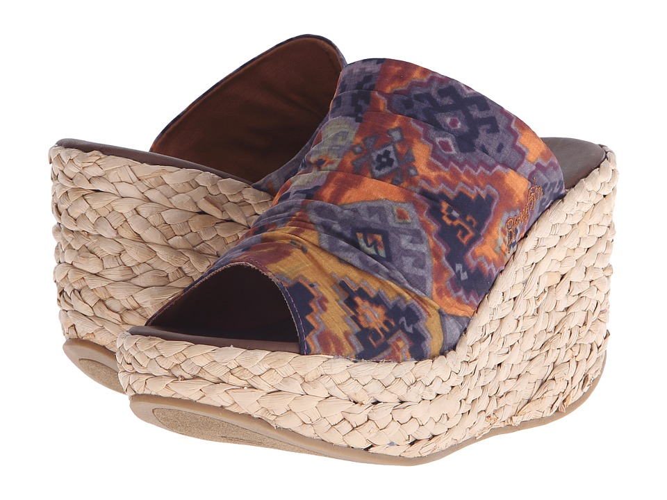 Blowfish - Drapey (Rust Mecca Print Fabric) Women's Wedge Shoes