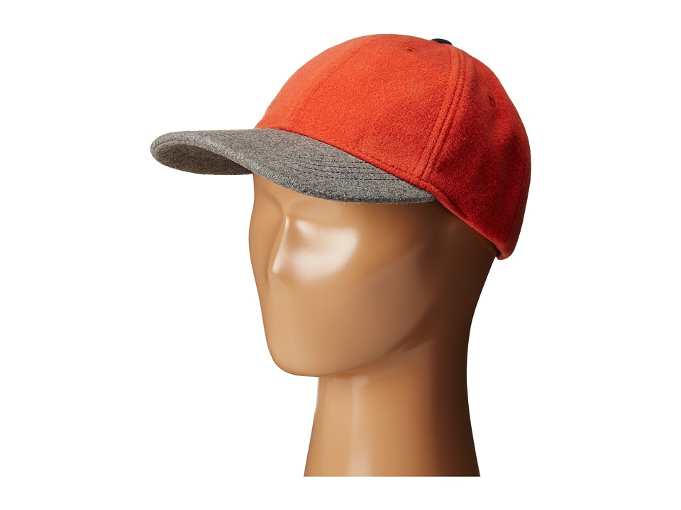 Toobydoo - Baseball Cap (Little Kids/Big Kids) (Orange/Navy) Caps