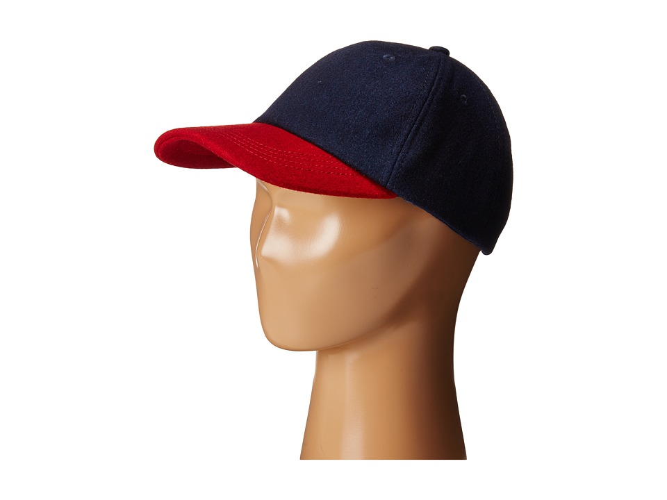 Toobydoo - Baseball Cap (Little Kids/Big Kids) (Red/Navy) Caps