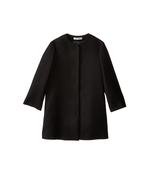 Dolce & Gabbana - Double Crepe Coat (Big Kids) (Black) Women's Coat