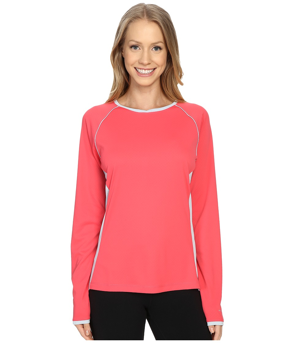 Columbia - Ultimate Catch Zero Long Sleeve Knit (Bright Geranium/Cirrus Grey) Women's Long Sleeve Pullover