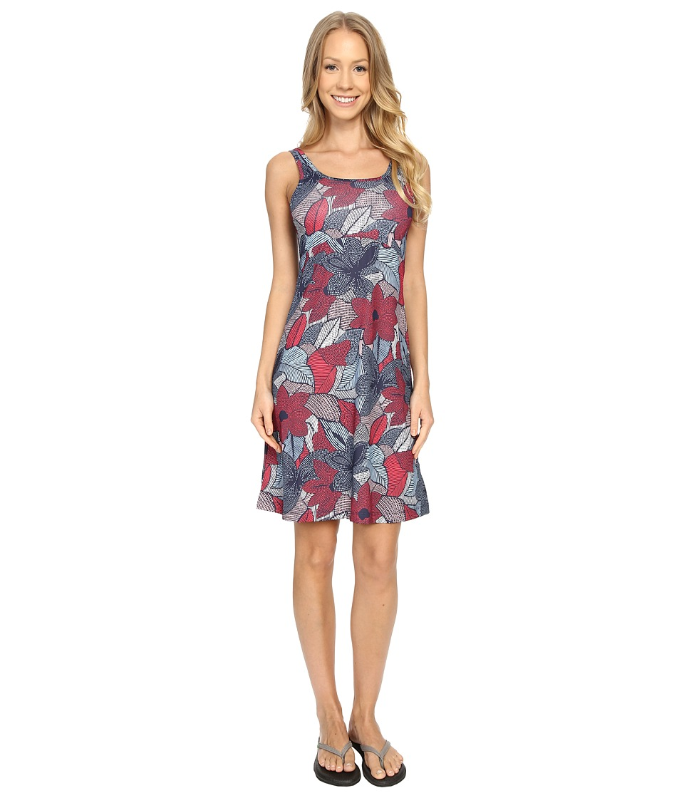 Columbia - Freezer III Dress (Bright Geranium Dot Floral) Women's Dress