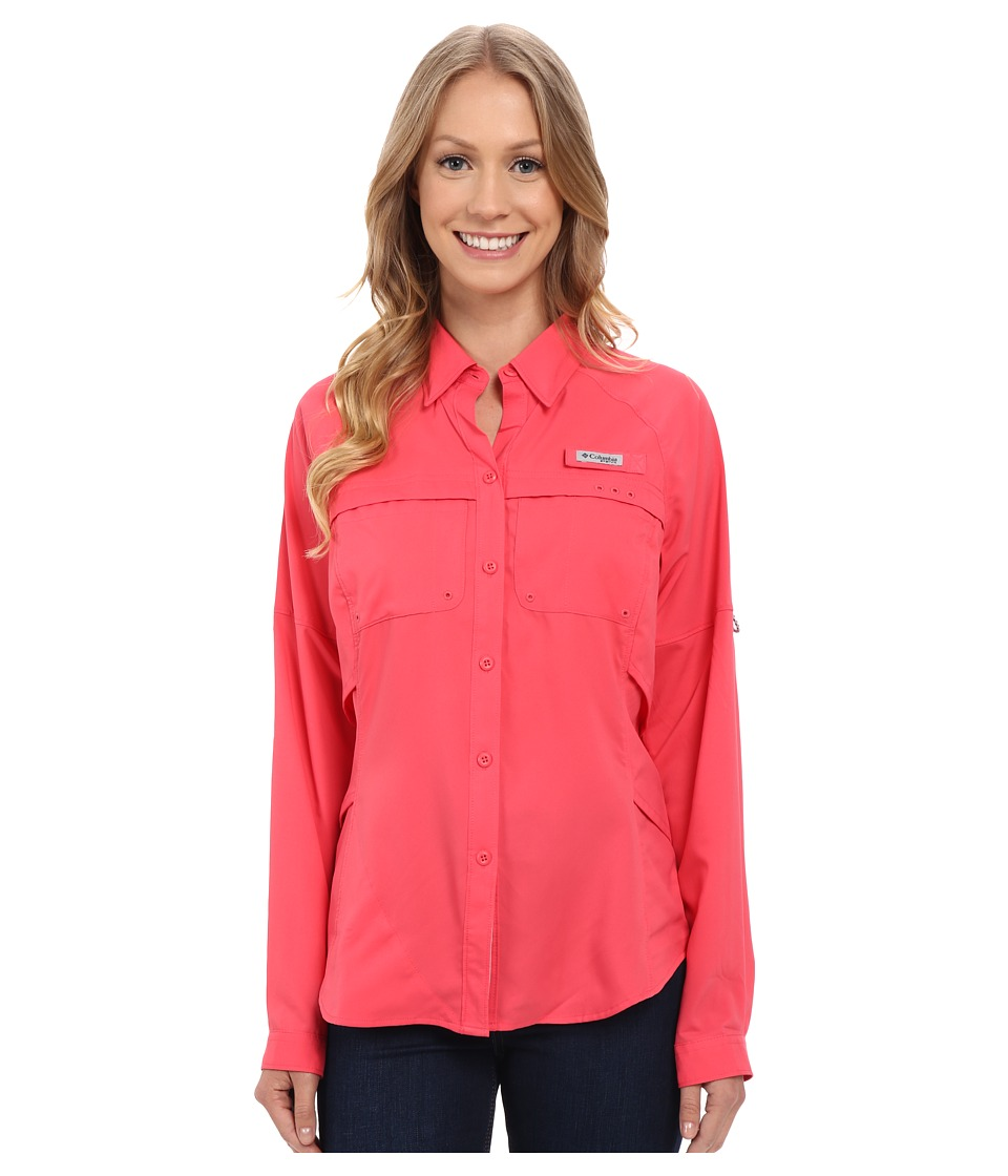 Columbia - Airgal Long Sleeve Shirt (Bright Geranium) Women's Long Sleeve Button Up