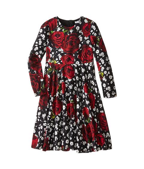 Dolce & Gabbana - St. Roseline Long Sleeve Dress (Big Kids) (Black) Women's Dress