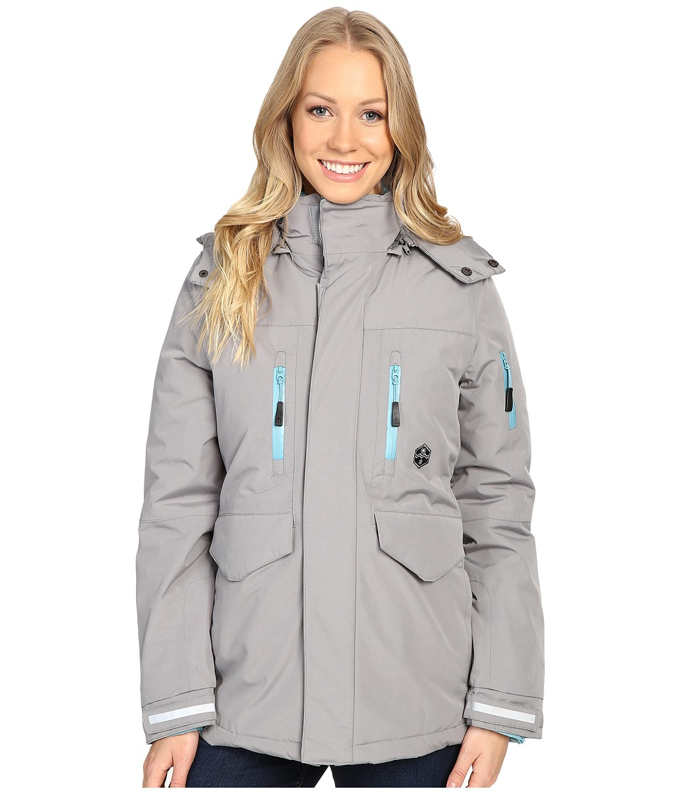 Khombu - Tri Season Jacket (Silver Mink) Women's Coat