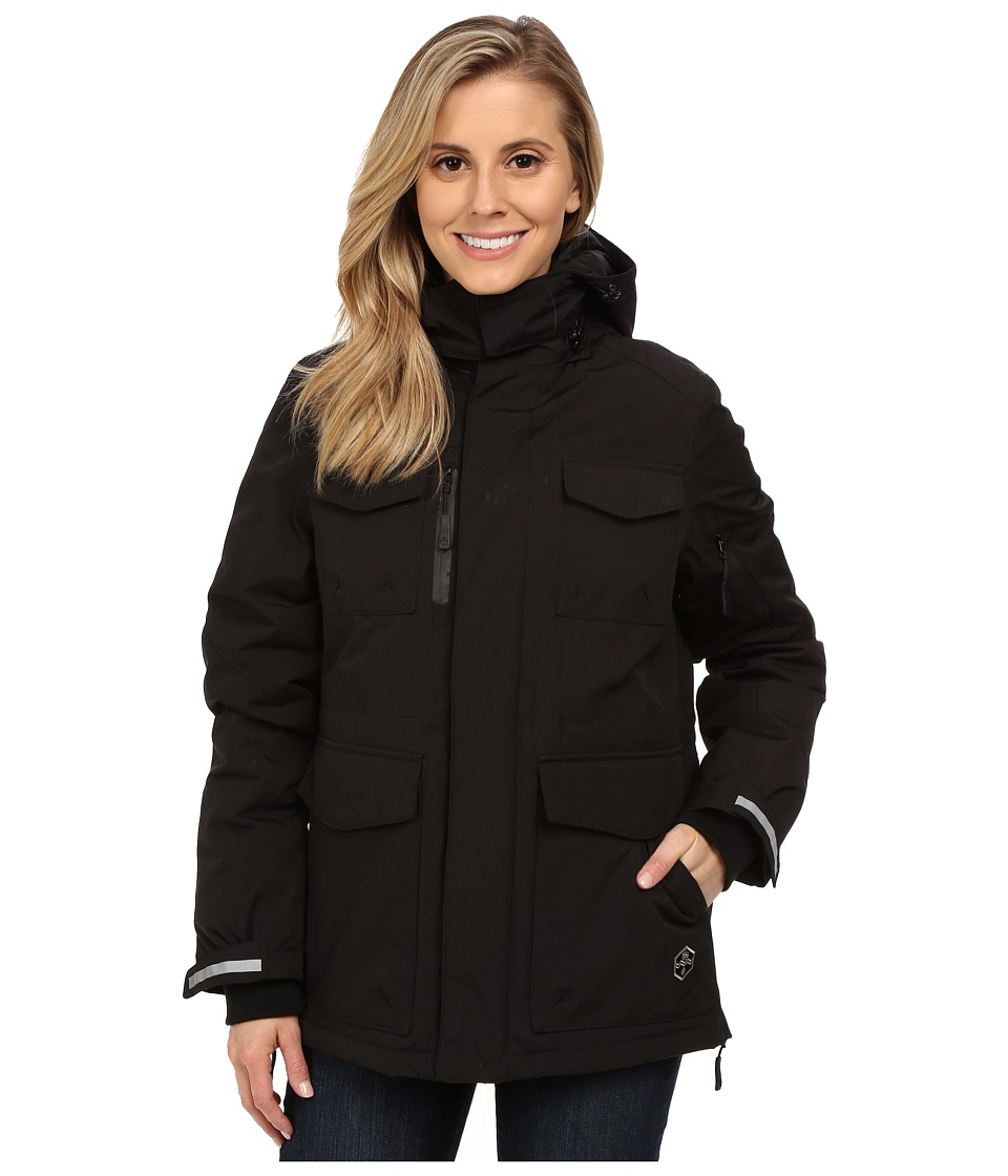 Khombu - Parka Jacket (Jet Black) Women's Coat