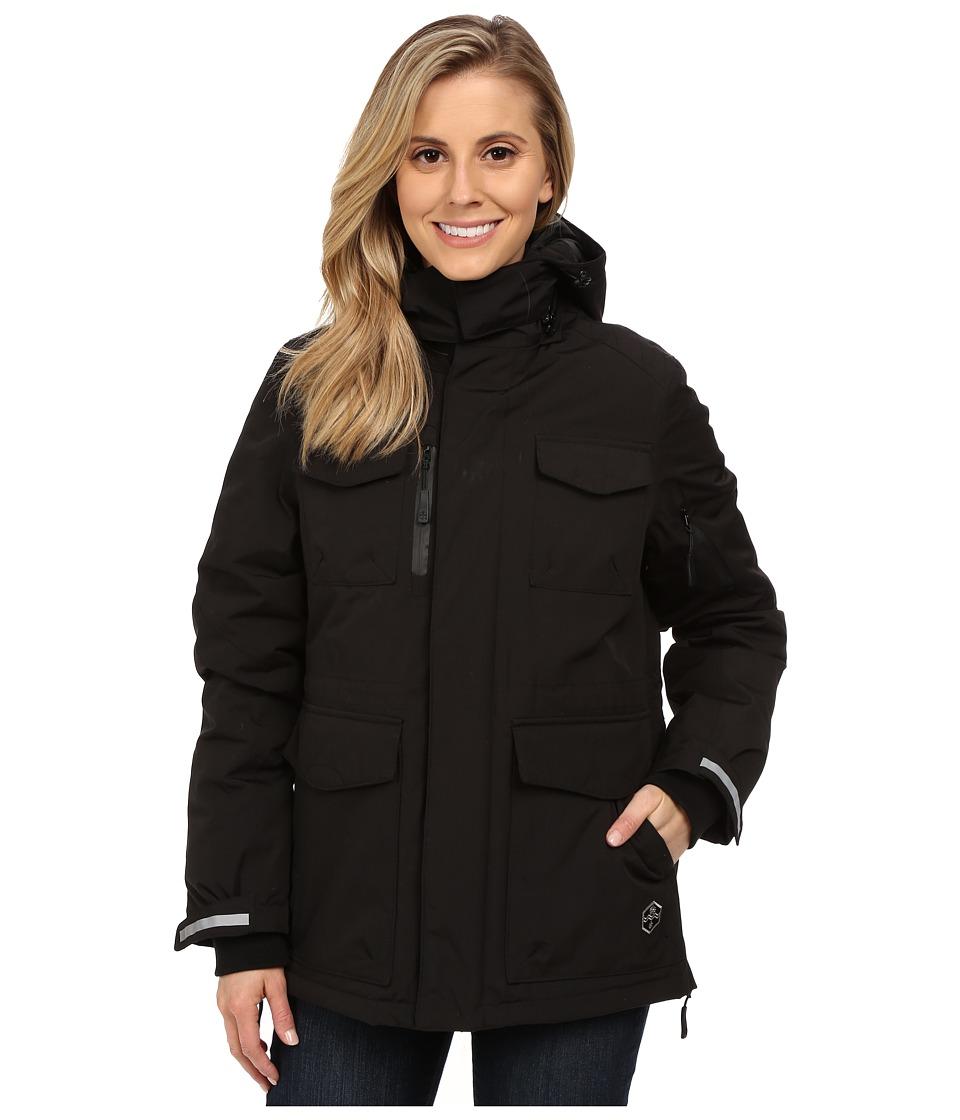Khombu - Parka Jacket (Jet Black) Women's Coat