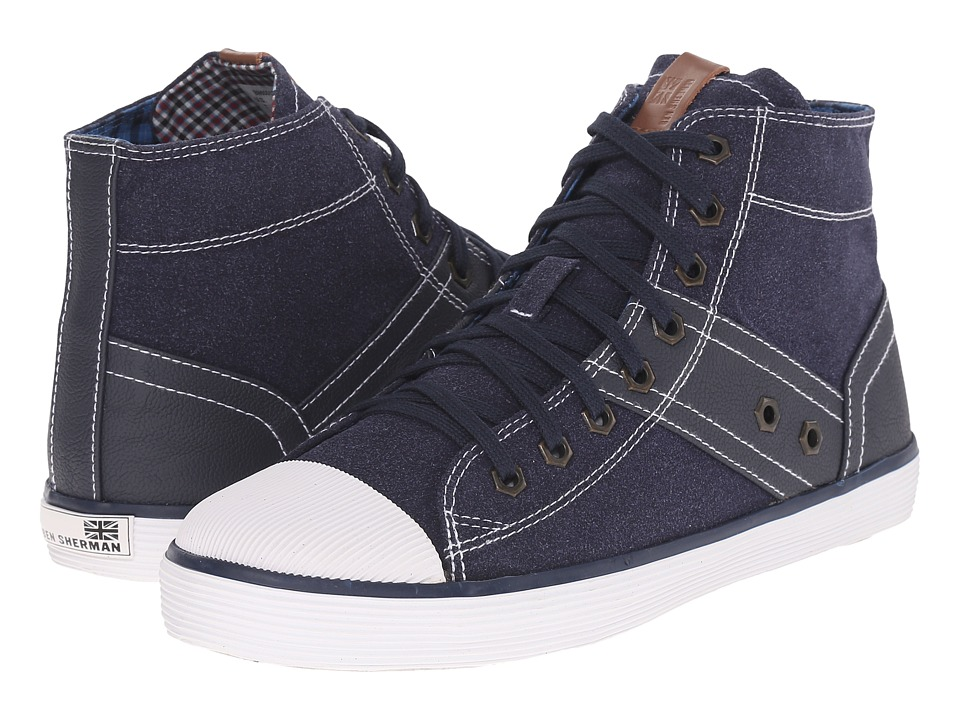 Ben Sherman - Aden Hi (Navy Blazer) Men's Lace Up Cap Toe Shoes
