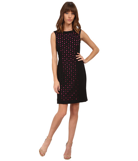 Tahari by ASL - Issac - P Dress (Black/Fuchsia) Women's Dress