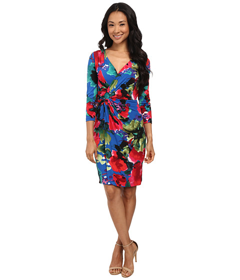 Tahari by ASL - Paul - C Dress (Royal/Lipstick) Women's Dress