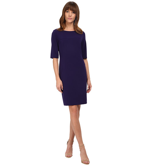 Tahari by ASL - Lester - V Dress (Plum) Women's Dress