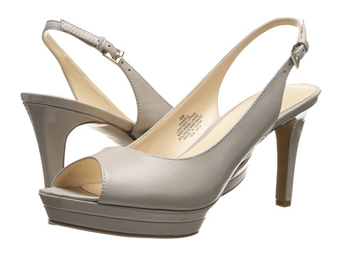 Nine West - Able (Light Grey Leather) Women's Sling Back Shoes