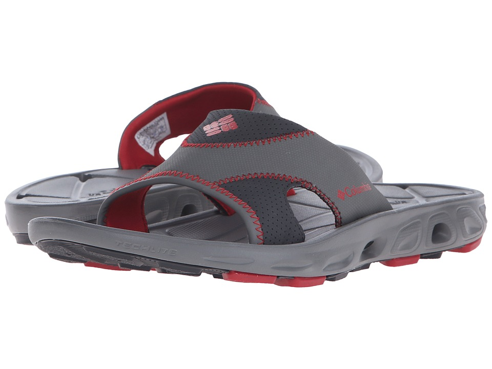 Columbia Techsun Vent Slide (Charcoal/Rocket) Men