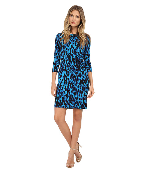 Tahari by ASL - Frank - A Dress (Azure/Black) Women's Dress