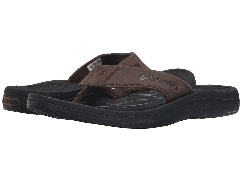 Columbia - Dockflip II (Cordovan/Black) Men's Sandals