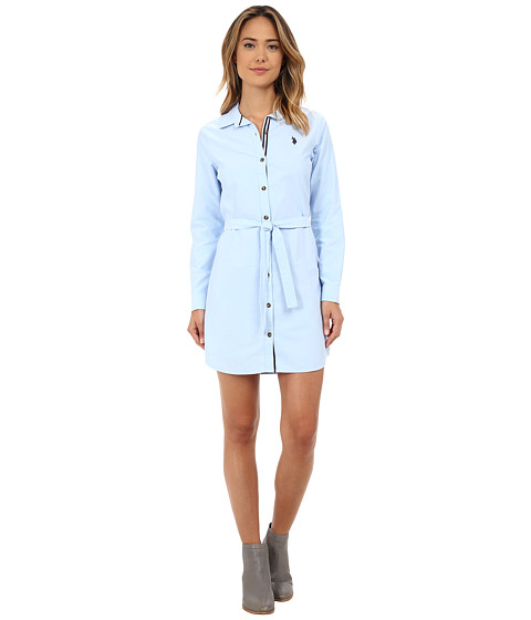 U.S. POLO ASSN. - Oxford Dress (Classic Blue) Women