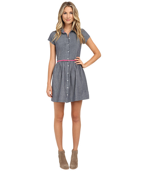 U.S. POLO ASSN. - Chambray Dress (Medium Blue) Women's Dress
