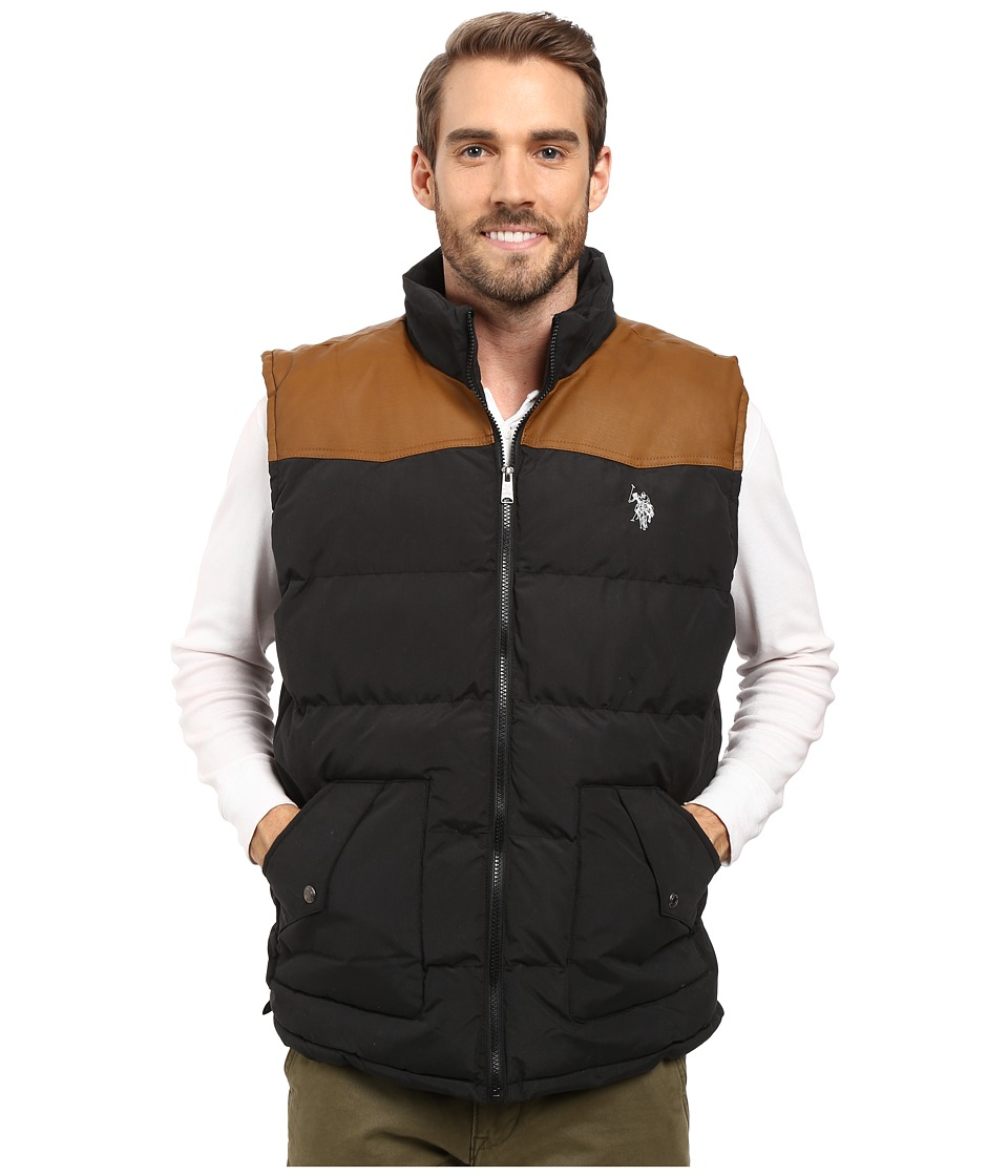 U.S. POLO ASSN. - Western Yoke Puffer Vest (Black) Men's Vest
