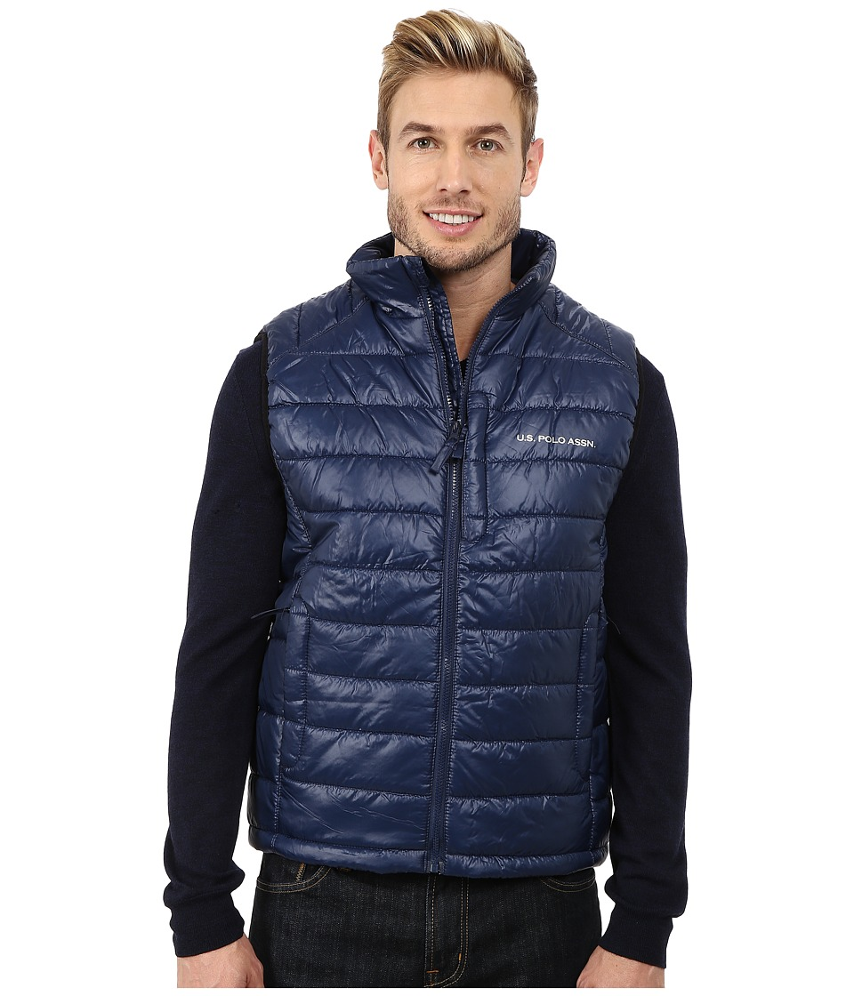 U.S. POLO ASSN. - Small Chanel Puffer Vest (Classic Navy) Men's Vest