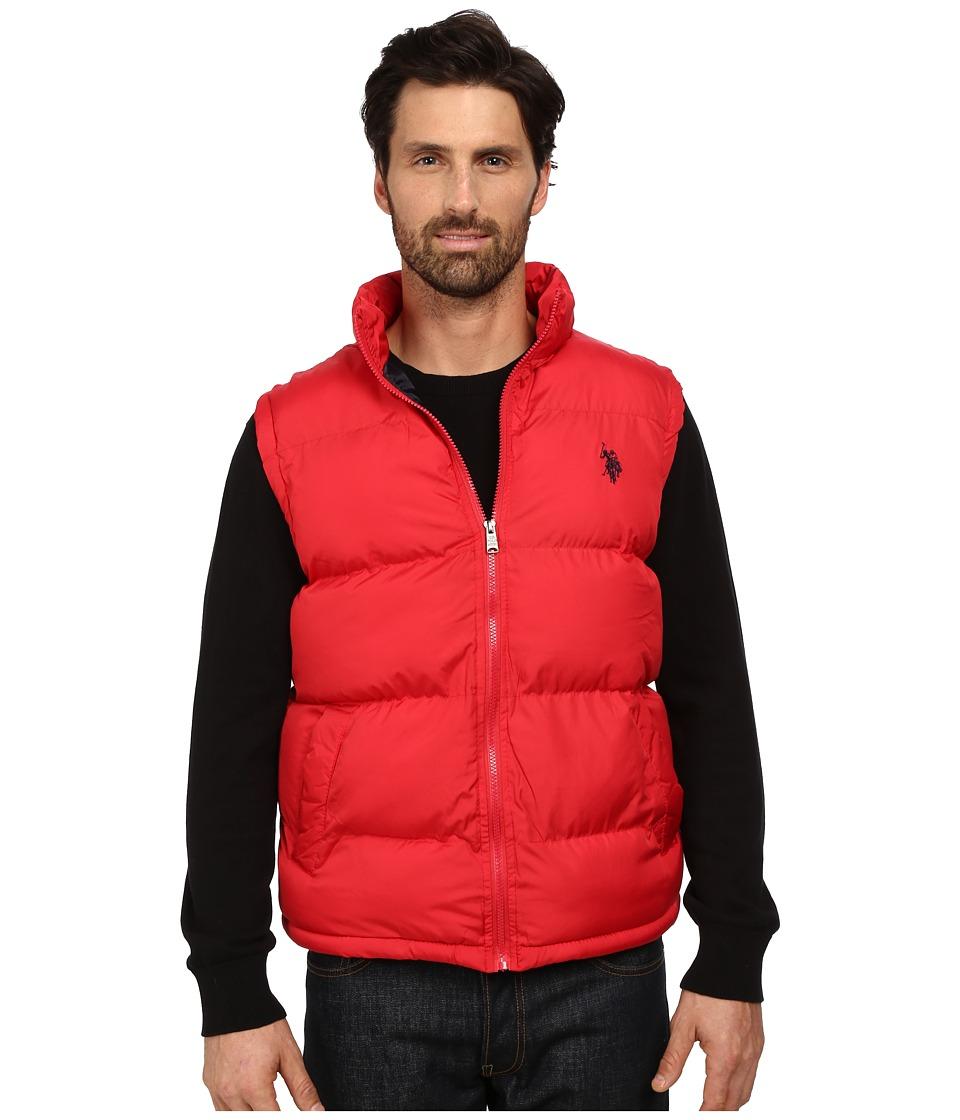 U.S. POLO ASSN. - Basic Puffer Vest (Chili Pepper) Men's Vest