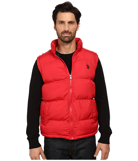 U.S. POLO ASSN. - Basic Puffer Vest (Chili Pepper) Men's Vest
