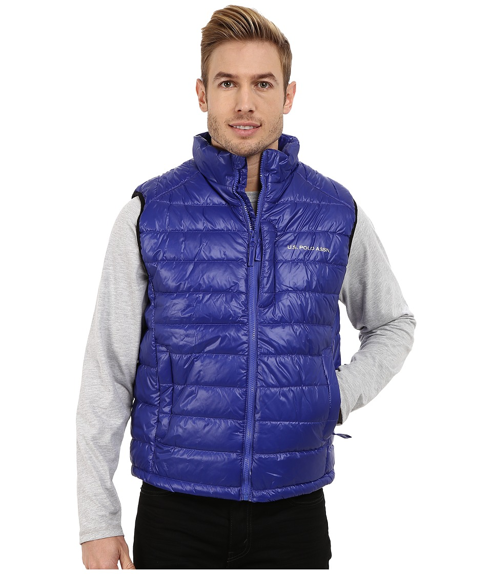 U.S. POLO ASSN. - Small Chanel Puffer Vest (Cobalt Blue) Men's Vest