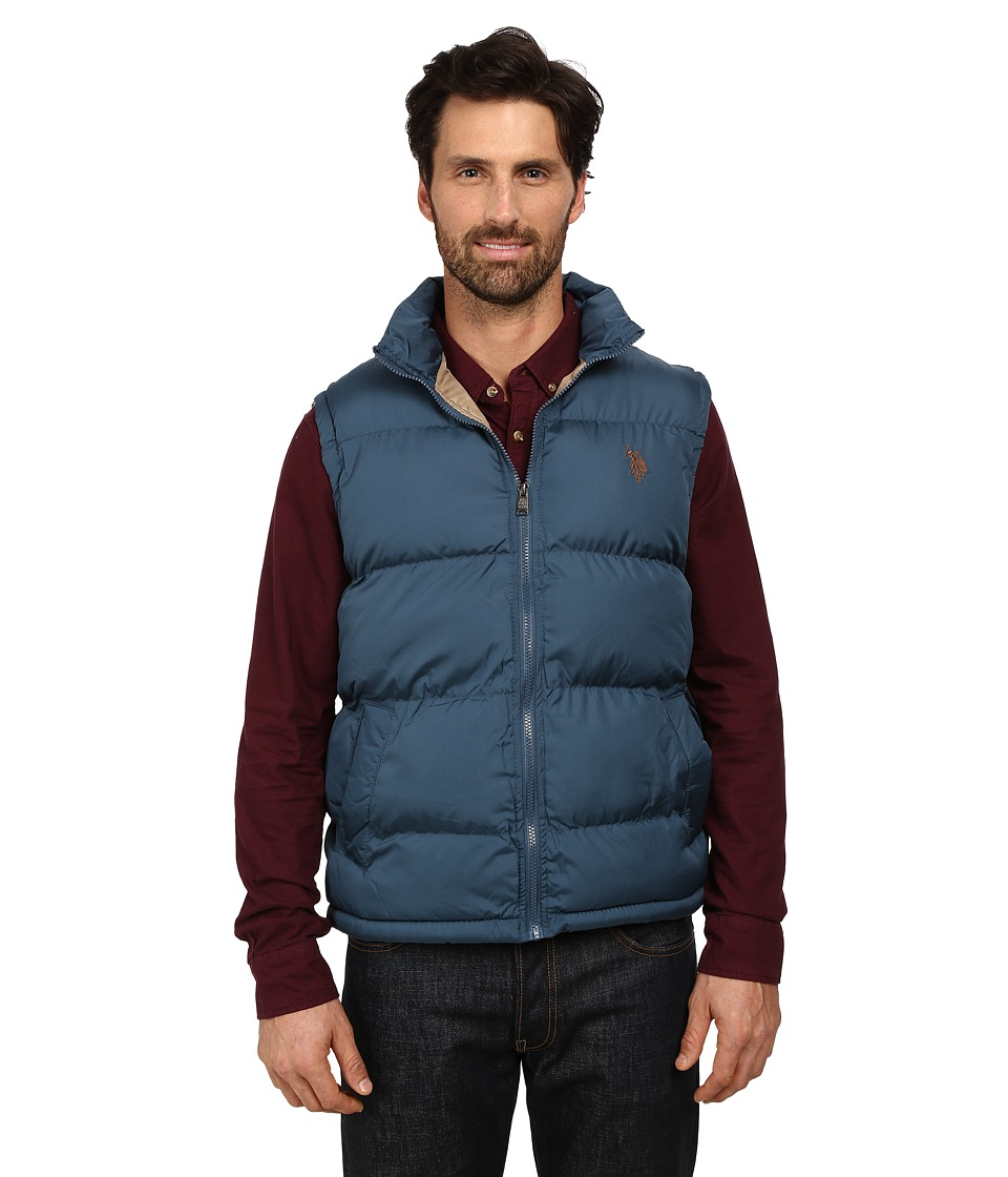 U.S. POLO ASSN. - Basic Puffer Vest (Greystone Blue) Men's Vest