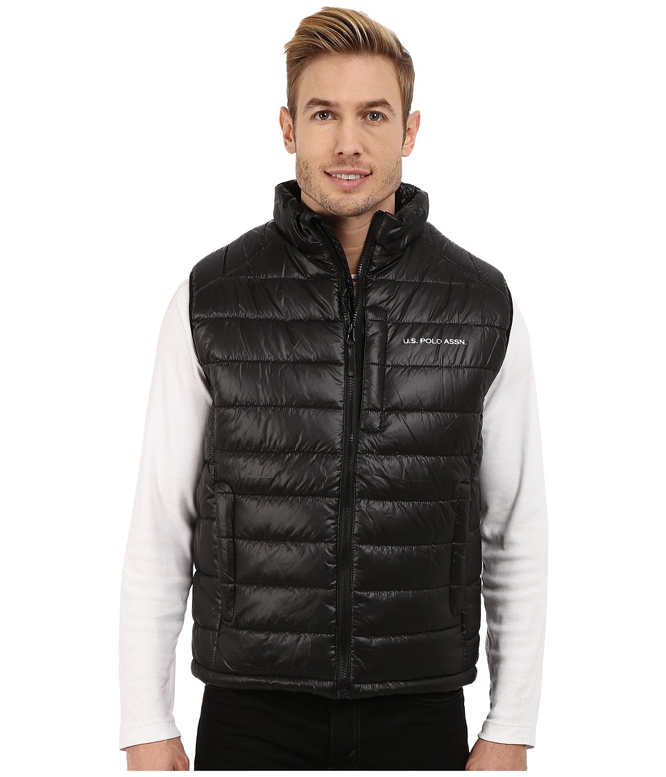 U.S. POLO ASSN. - Small Chanel Puffer Vest (Black) Men's Vest