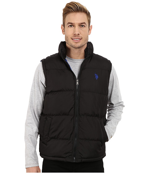 U.S. POLO ASSN. - Basic Puffer Vest (Black) Men's Vest