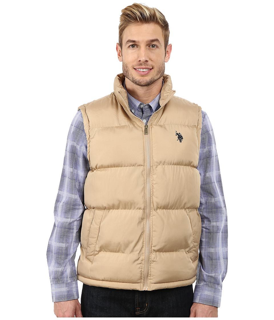 U.S. POLO ASSN. - Basic Puffer Vest (Desert Khaki) Men's Vest