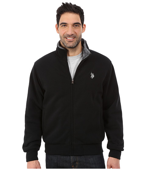 U.S. POLO ASSN. - Sherpa Lined Fleece Jacket (Black) Men's Vest
