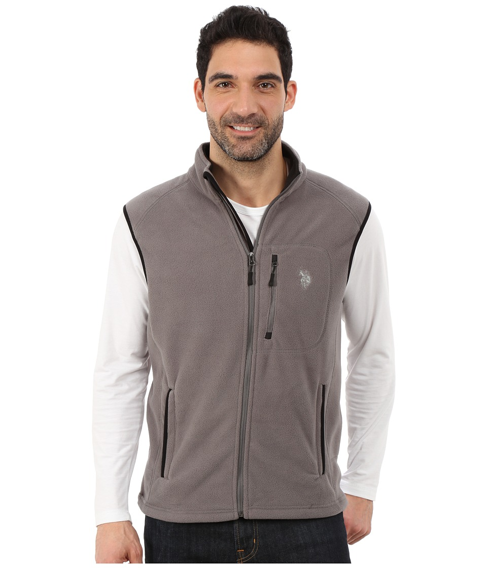 U.S. POLO ASSN. - Polar Fleece Vest (Dark Grey) Men's Vest