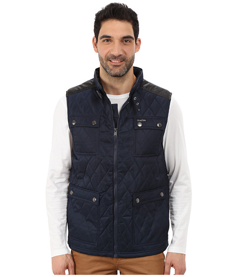 U.S. POLO ASSN. - Quilted Vest with PU Yoke (Classic Navy) Men