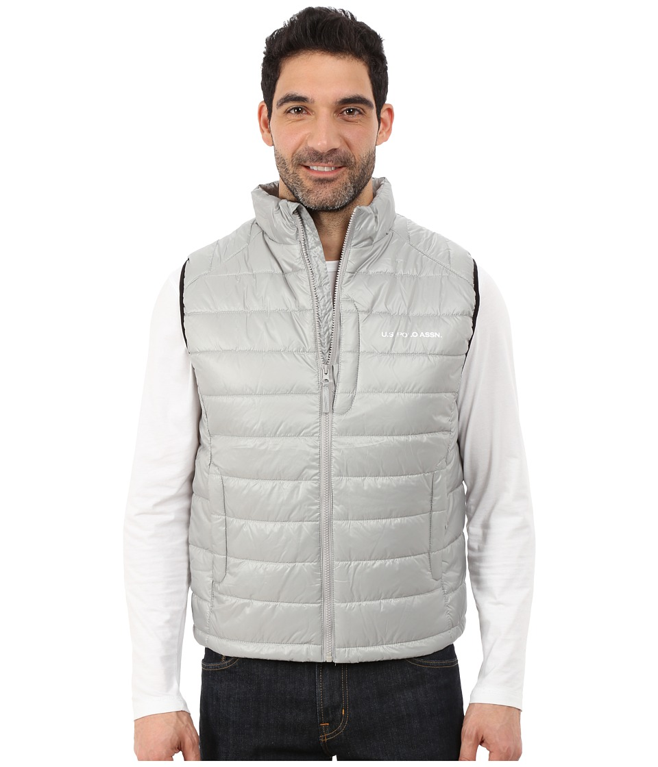 U.S. POLO ASSN. - Small Chanel Puffer Vest (Limestone) Men's Vest