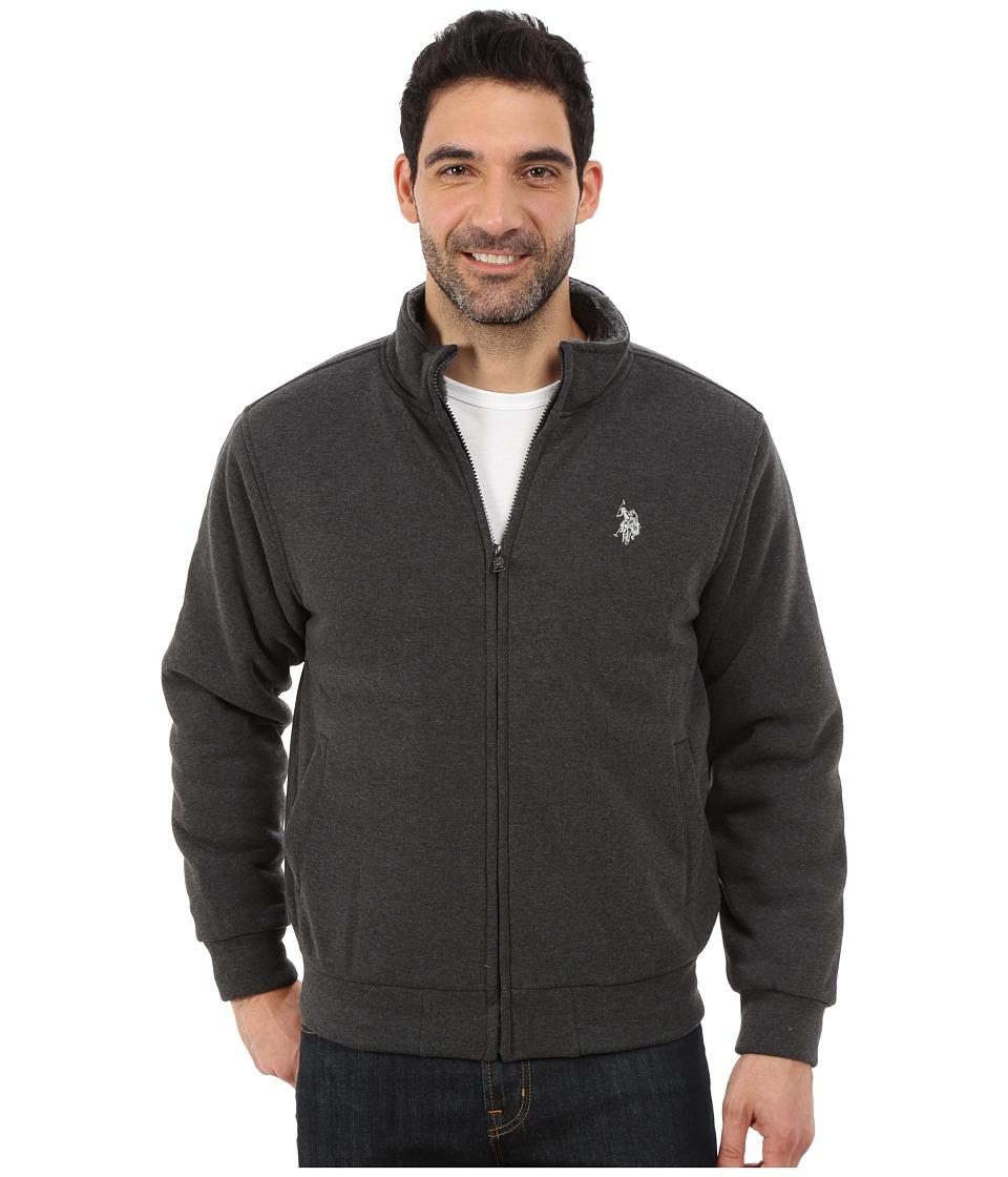 U.S. POLO ASSN. - Sherpa Lined Fleece Jacket (Dark Grey) Men