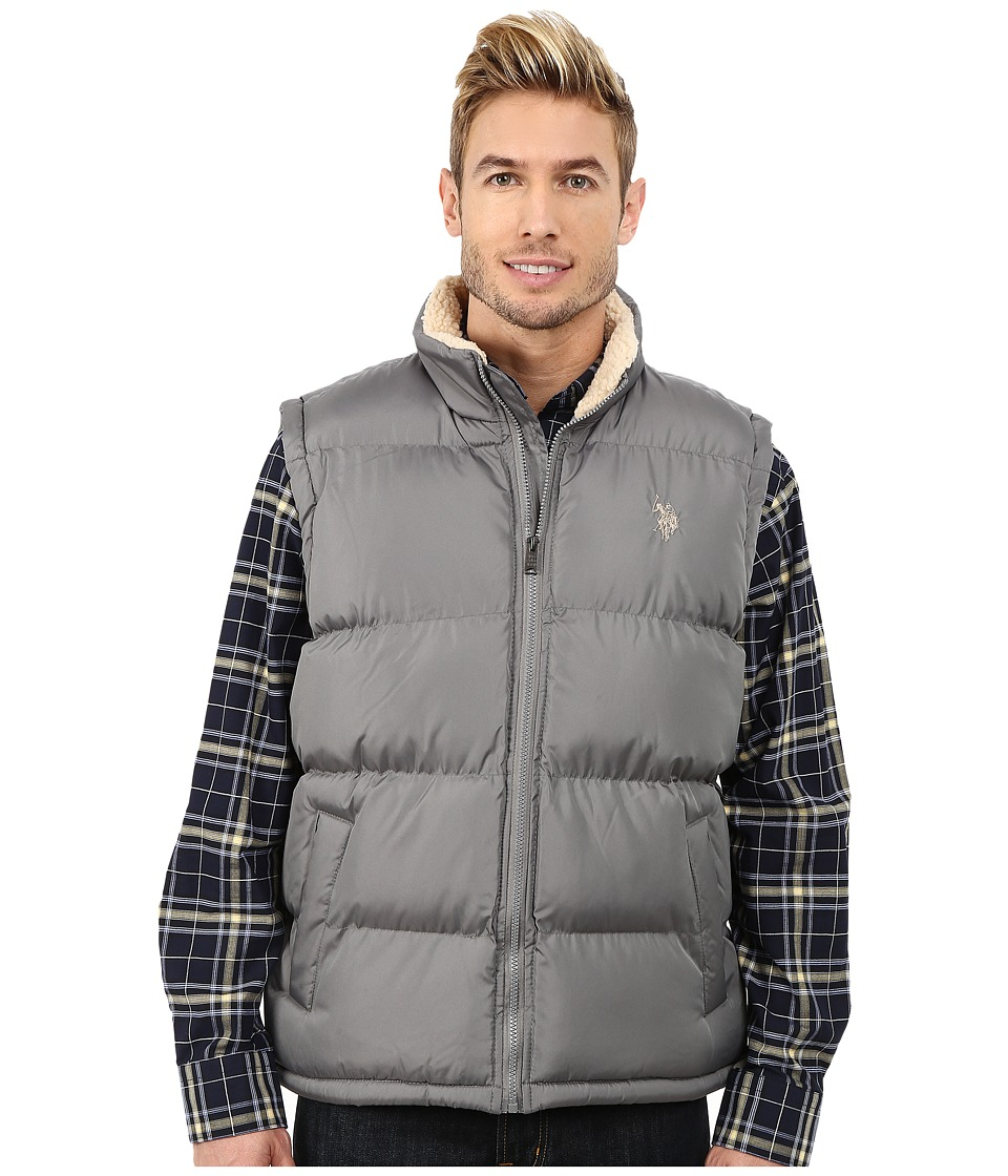 U.S. POLO ASSN. - Signature Vest with Inner Sherpa Collar (Castle Rock) Men's Vest