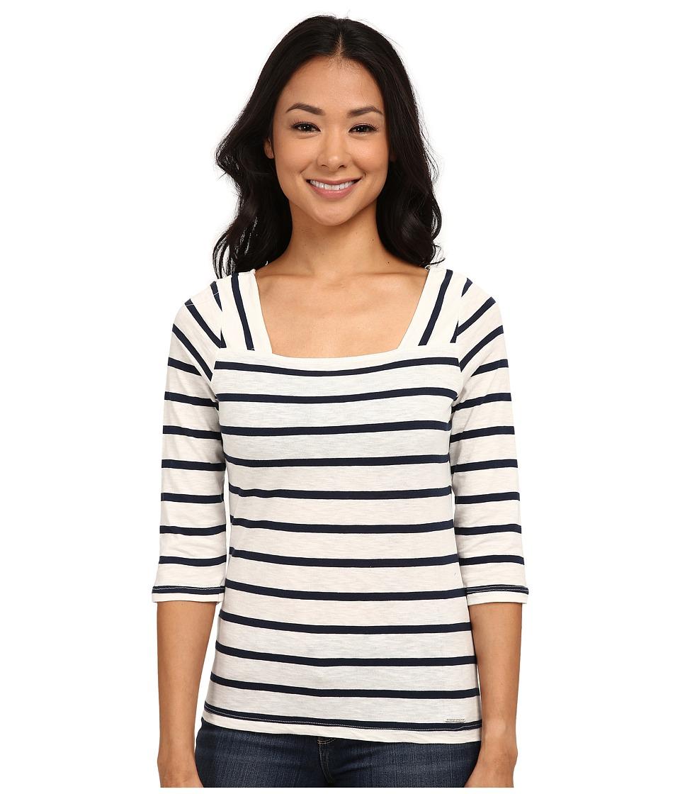 U.S. POLO ASSN. - Cotton Slub Square Neck T-Shirt (Marshmallow) Women's T Shirt