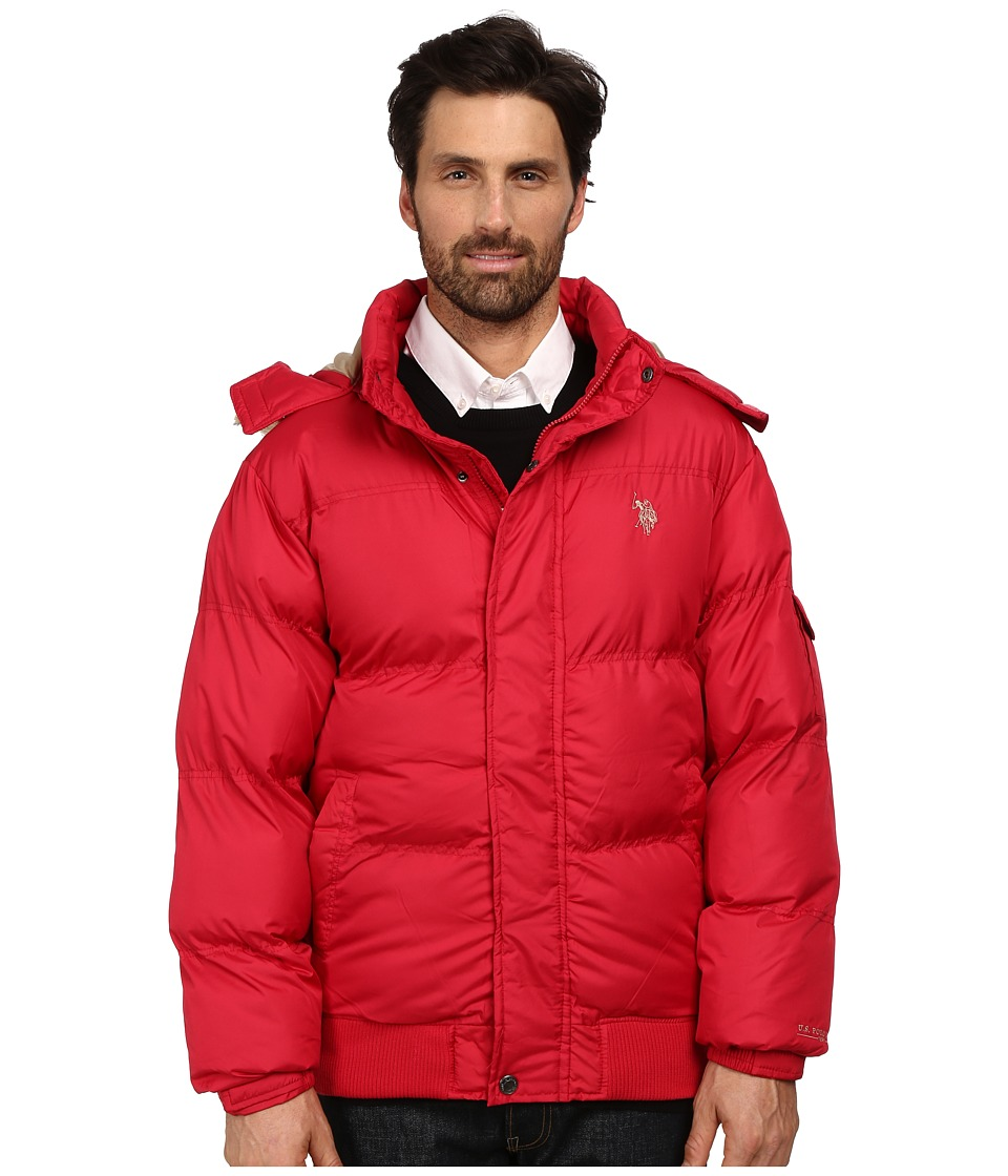 U.S. POLO ASSN. - Short Snorkel Jacket (Chili Pepper) Men's Coat