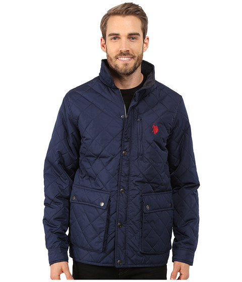 U.S. POLO ASSN. - Diamond Quilted Jacket (Classic Navy) Men's Coat