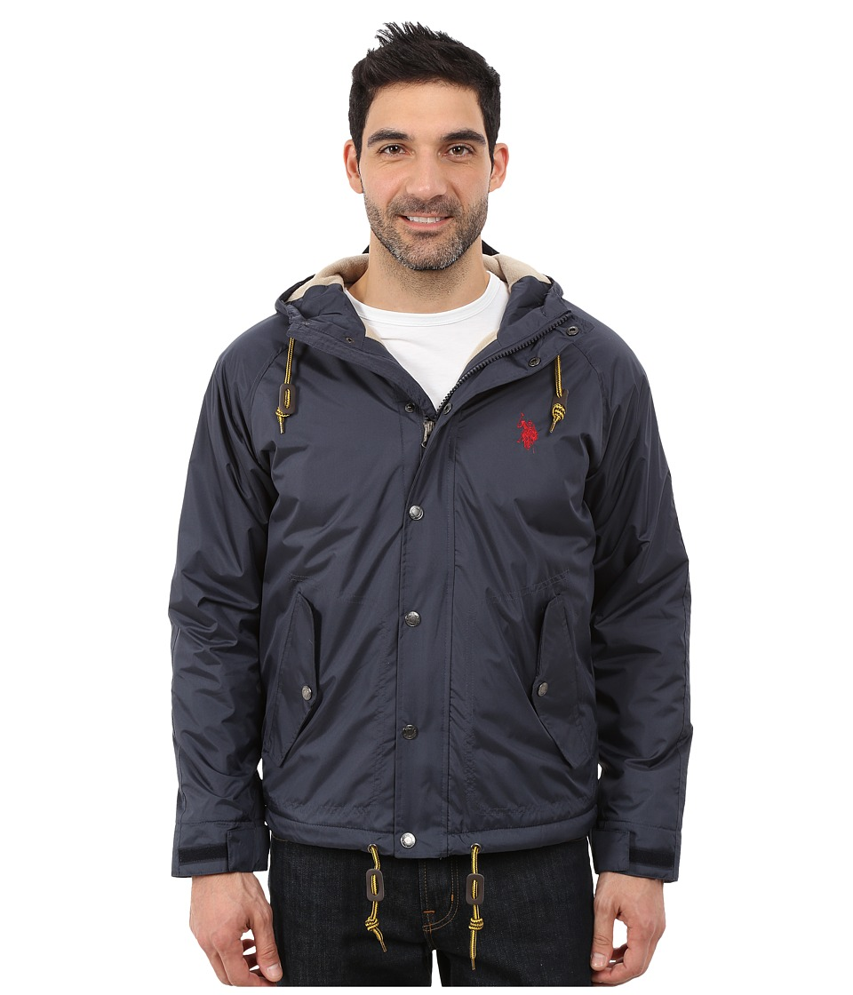 U.S. POLO ASSN. - Fleece Lined Anorak (Classic Navy) Men's Coat