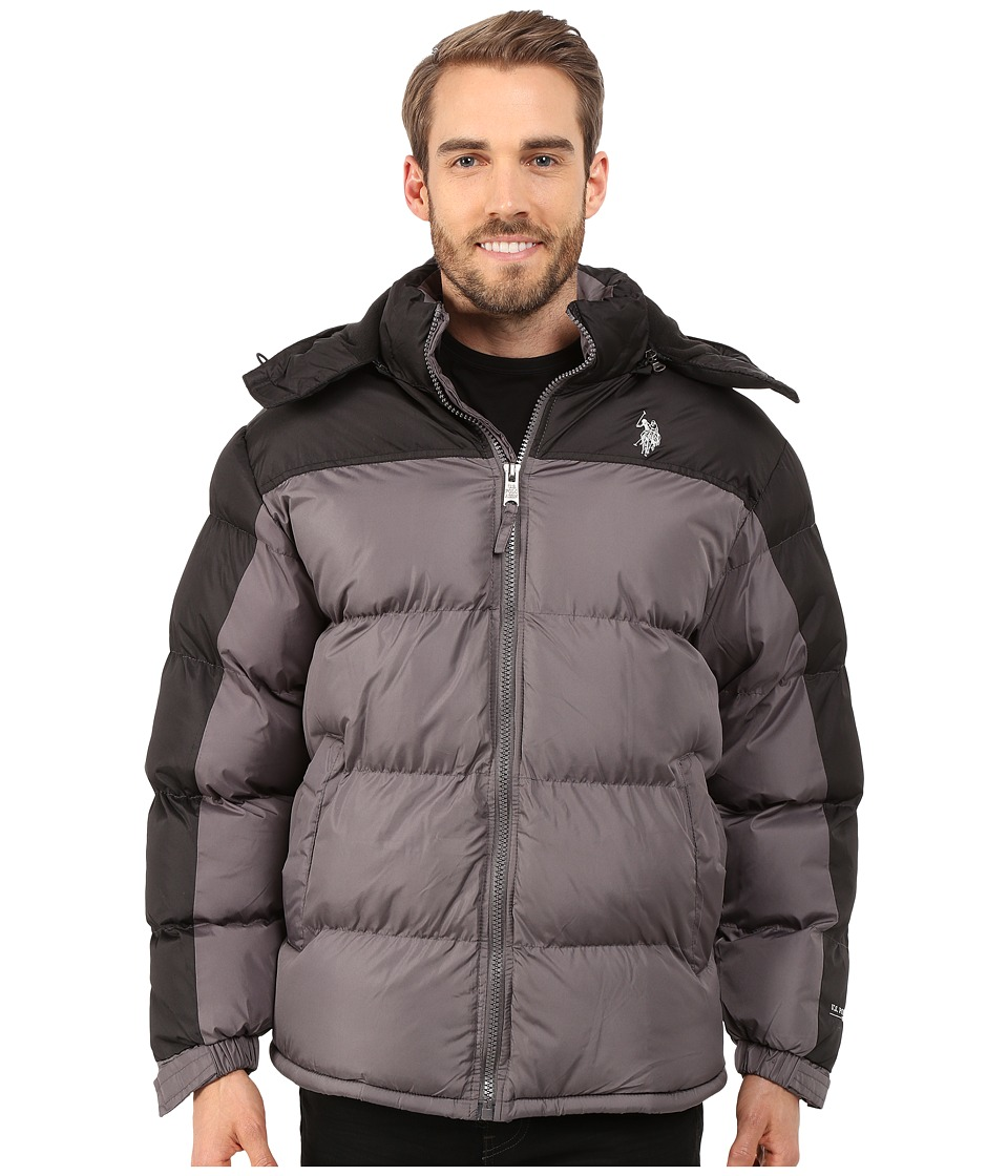 U.S. POLO ASSN. - Color Block Bubble Jacket (Castle Rock) Men's Coat