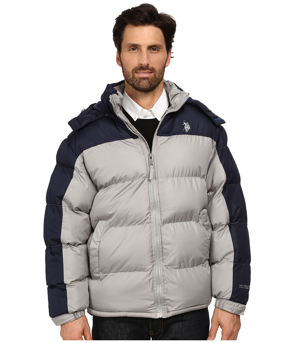 U.S. POLO ASSN. - Color Block Bubble Jacket (Limestone) Men's Coat