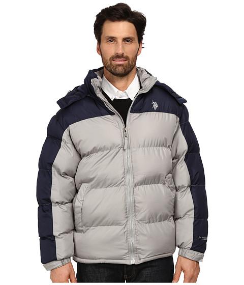 U.S. POLO ASSN. - Color Block Bubble Jacket (Limestone) Men's Coat